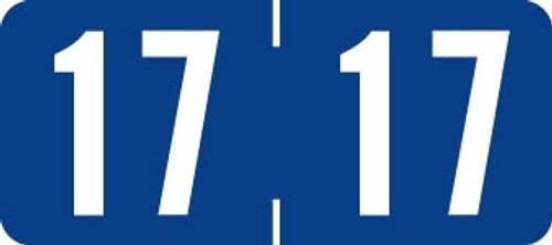 TAB Yearband Label (Rolls of 500) - 2017 - Dark Blue - A1287 Series