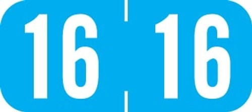 TAB Yearband Label (Rolls of 500) - 2016 - Light Blue - A1287 Series