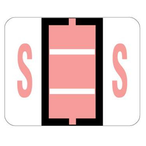 TAB Alphabetic Label (Sheet of 50) - S - Pink - A1286 Series