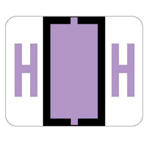 TAB Alphabetic Label (Sheet of 50) - H - Lilac - A1286 Series