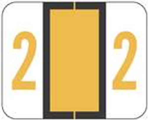 TAB Numeric Labels - 1282 Series (Rolls) - 2 - Lt. Orange