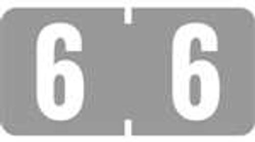 TAB Numeric Labels - 1280 Series (Rolls) - 6 - Gray