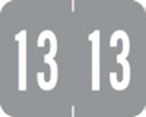 TAB Yearband Label - 1309 Series (Rolls) - 2013 - Lt. Gray