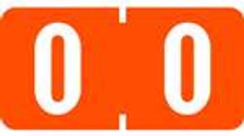 TAB Numeric Labels - 1280 Series (Rolls) - 0 - Orange