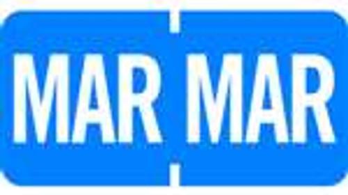 TAB Month Designation Labels (Rolls)- March/Lt. Blue