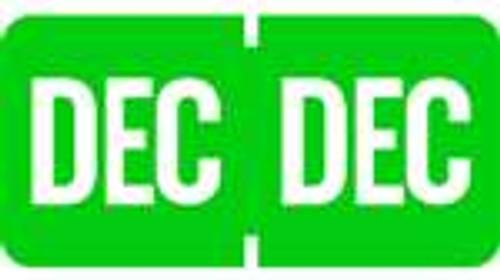 TAB Month Designation Labels (Rolls)- December/Lt. Green