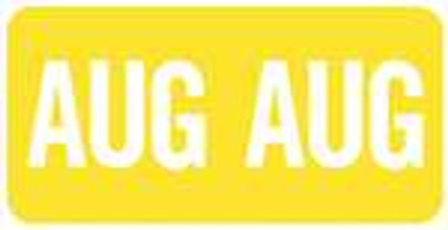 TAB Month Designation Labels (Rolls)- August/Yellow