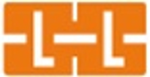 TAB Alphabetic Labels - 1278 Series (Rolls) L- Dk. Orange