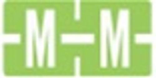 TAB Alphabetic Labels - 1278 Series (Rolls) M- Lt. Green