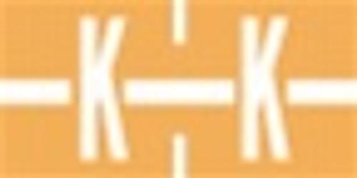 TAB Alphabetic Labels - 1278 Series (Rolls) K- Lt. Orange