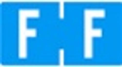TAB Alphabetic Labels - 1278 Series (Rolls) F- Blue