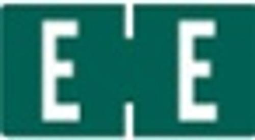 TAB Alphabetic Labels - 1278 Series (Rolls) E- Dk. Green