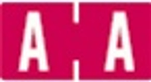 TAB Alphabetic Labels - 1278 Series (Rolls) A- Red
