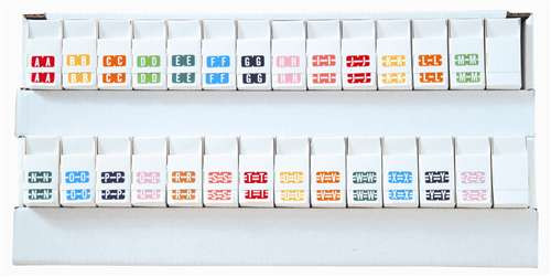 TAB Alphabetic Labels - 1278 Series (Rolls) A-Z Set with tray