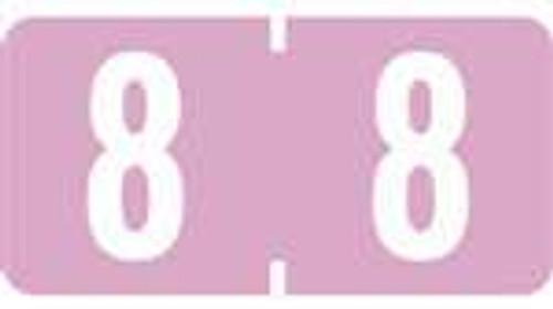 TAB Numeric Labels - 1277 Series (Rolls) - 8 - Lilac