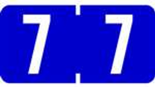 TAB Numeric Labels - 1277 Series (Rolls) - 7 - Purple