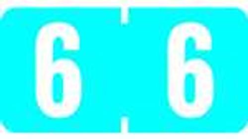 TAB Numeric Labels - 1277 Series (Rolls) - 6 - Blue