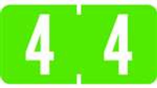TAB Numeric Labels - 1277 Series (Rolls) - 4 - Lt. Green
