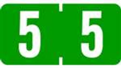 TAB Numeric Labels - 1277 Series (Rolls) - 5 - Dk. Green