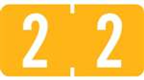 TAB Numeric Labels - 1277 Series (Rolls) - 2 - Lt. Orange