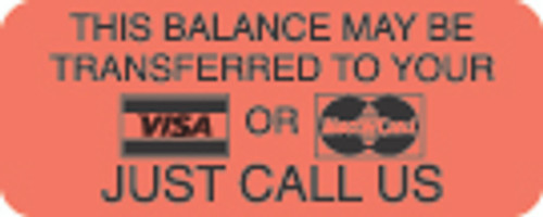 This Balance May Be Transferred Label