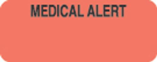 """Medical Alert"" Label - Fl. Red - 1-7/8"" x 3/4"" - 500 Labels/Box"