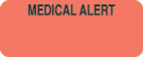 """Medical Alert"" Label - Fl. Red - 1-7/8"" x 3/4"" - 500 Labels/Box"
