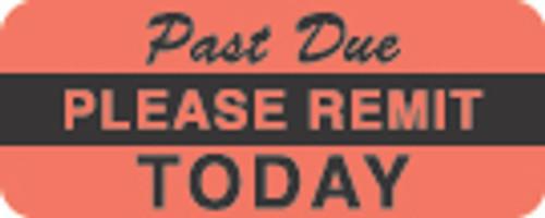 Please Remit/Past Due Label