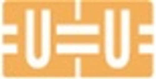 TAB Alphabetic Labels - 1278 Series (Rolls) U- Lt. Orange