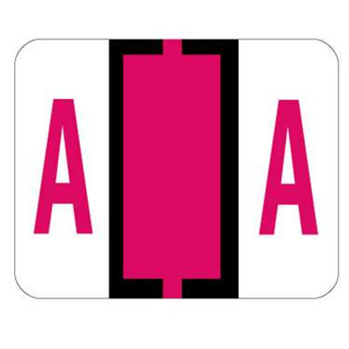 TAB Alphabetic Label (Sheet of 50) - A - Red - A1286 Series