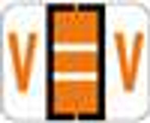 TAB Alphabetic Labels - 1283 Series (Rolls) V- Dk. Orange