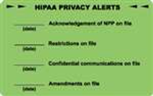HIPAA Privacy Alerts Label