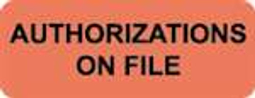 Authorizations On File Label