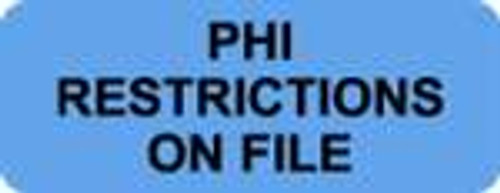 Phi Restrictions Label