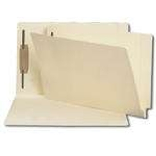 End Tab File Folder w/ Fastener in Pos 1 - Manila - Legal Size - 11 pt - Reinforced Tab - 250/Carton