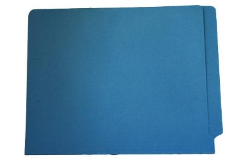 End Tab File Folder - Blue - Legal Size - 11 pt - Reinforced Full End Tab - 100/Box