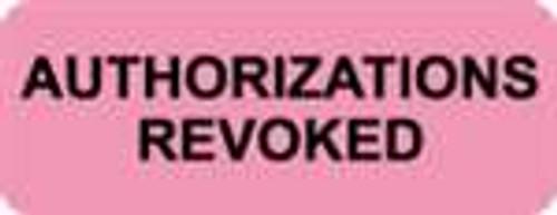 Authorizations Revoked Label
