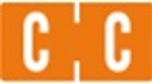 TAB Alphabetic Labels - 1278 Series (Rolls) C- Dk. Orange
