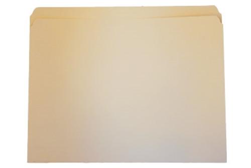 Top Tab File Folder w/ Fastener - Position 1 - Manila - Legal - 11 pt - Single Ply Straight Cut Tab - 100/Box