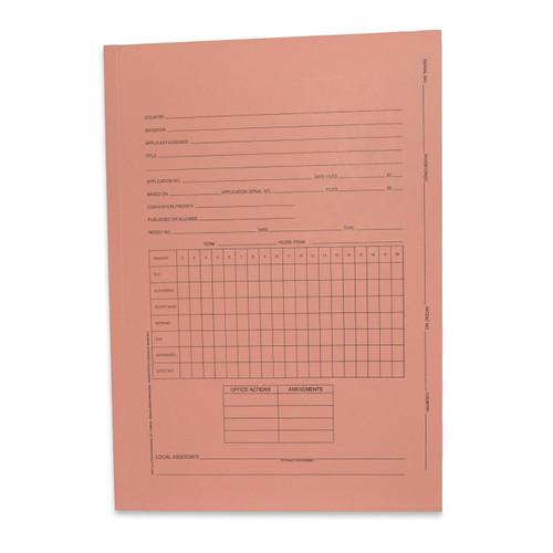 "Redweld Intellectual Property Folder, Foreign Patent Application Folder, - 14 1/2"" H x 10 1/4"" W - Salmon Color , Tri-Fold - 100/Carton"