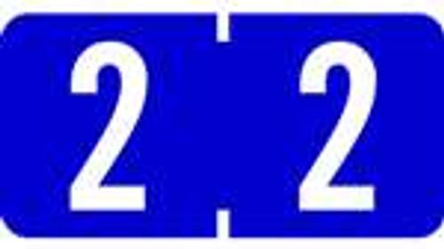 TAB Numeric Labels - 1280 Series (Rolls) - 2 - Dk. Blue