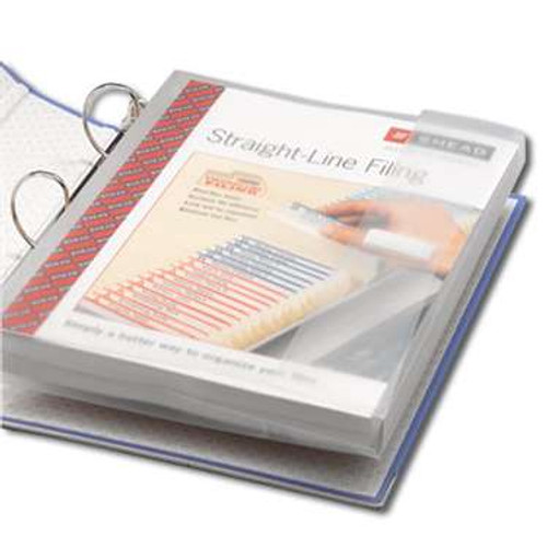 """Smead Poly Three-Ring Envelope, 1-1/4"""" Expansion, Flap with hook-and-loop closure, Letter, Clear, 3 per Pack (89500) - 24 Packs"""