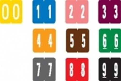 """GBS Numeric Label - 2 - Pink - Mini Label 1"""" H x 1-1/4"""" W - 500 per box"""