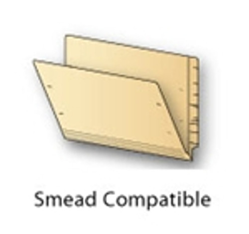 Smead Compatible End Tab Folder - 14 PT. Manila - Letter - Reinforced Tab - 50/Box