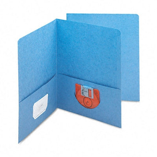 Smead Two-Pocket Heavyweight Folder, Up to 100 Sheets, Letter Size, Blue, 25 per Box (87852)