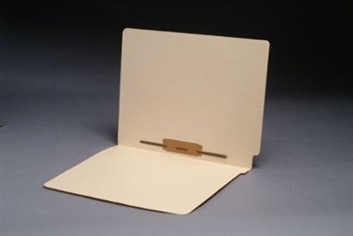 End Tab File Folder w/ Fastener in Pos 5 - Manila - Letter Size - 11 pt - Reinforced Full End Tab  - 100/Box