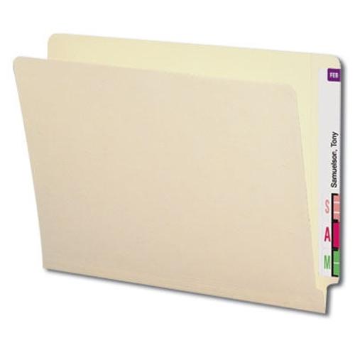 Reinforced End Tab Folder - Manila - Letter Size - 11pt Stock - Full End Tab - 100/Box