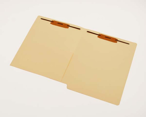 Smead Compatible End Tab Pocket Folder With Fasteners in Positions 1 and 3 - 11 Pt. Manila - Letter Size - Straight Cut Tab - Reinforced Tab; 50 Per Box