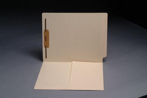 Smead Compatible End Tab Pocket Folders w/ Fastener in Position 1 - 11 Pt. Manila - Letter Size  - Reinforced Tab - 50/Box