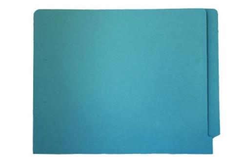 End Tab File Folder - Light Blue - Letter - 11 pt - Reinforced Full End Tab - 100/Box